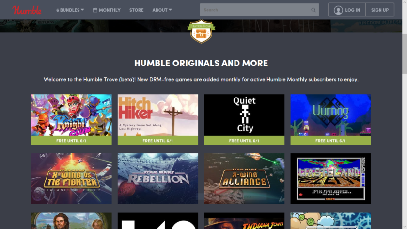 Humble Bundle Trove Gratis