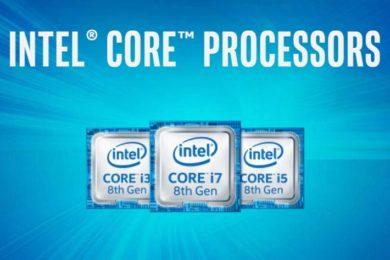 Los Intel Core de 8 núcleos y 16 hilos tendrán versiones de 95W y 80W