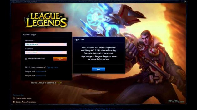 League of Legends Bloqueo Parental