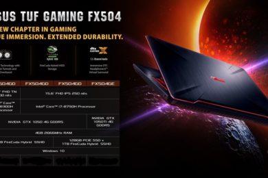 ASUS presenta el portátil TUF Gaming FX504