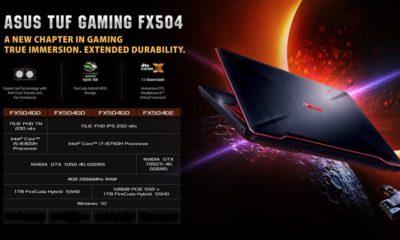 ASUS presenta el portátil TUF Gaming FX504 106