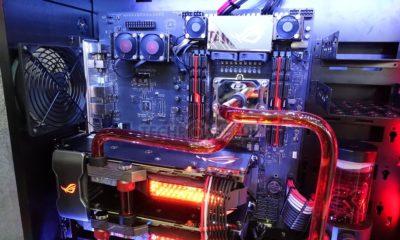 Imágenes de la placa base ASUS ROG Dominus con CPU Intel Core i9 de 28 núcleos 56