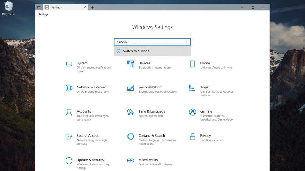 """Microsoft introduce el cambio a """"Modo S"""" en Windows 10 Redstone 5 31"""