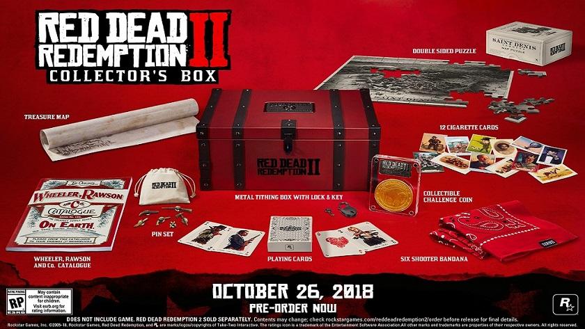 La edición de coleccionista de Red Dead Redemption 2 viene sin el juego 30