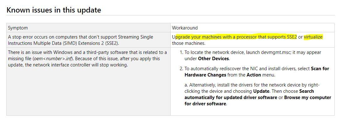 Windows 7 ya no funciona en procesadores sin SSE2 y Microsoft no hará nada para solucionarlo 33