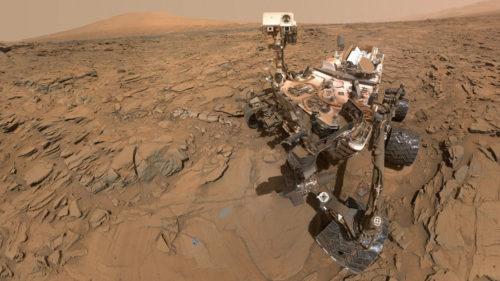 """El rover Curiosity se hace una """"selfie"""" durante la tormenta de arena que azota a Marte"""