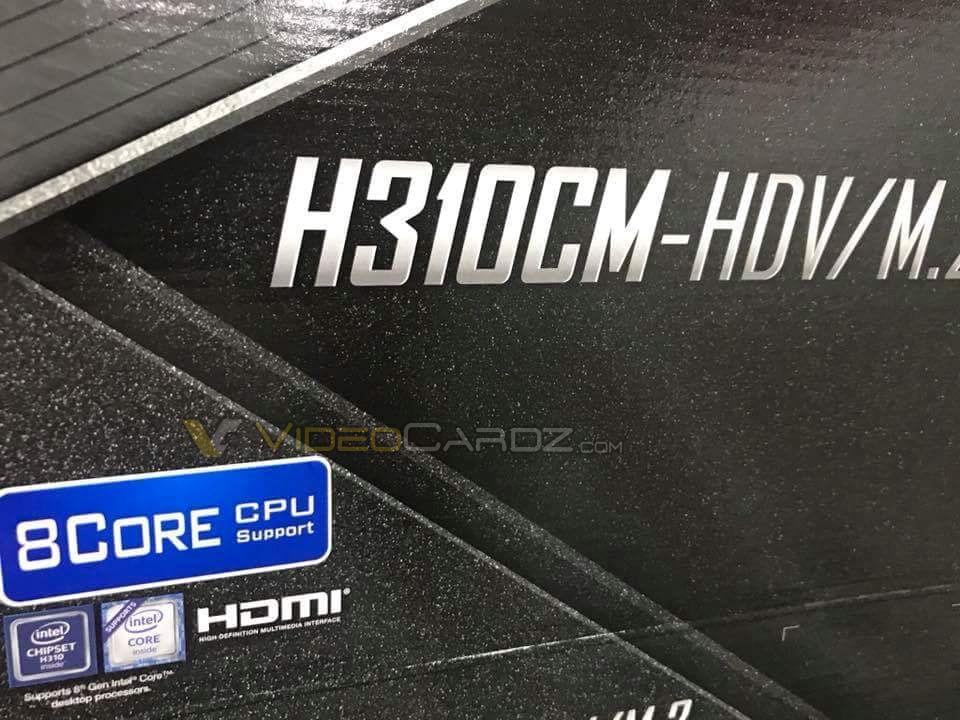 Las placas base H310 soportarán procesadores Coffee Lake de ocho núcleos 29