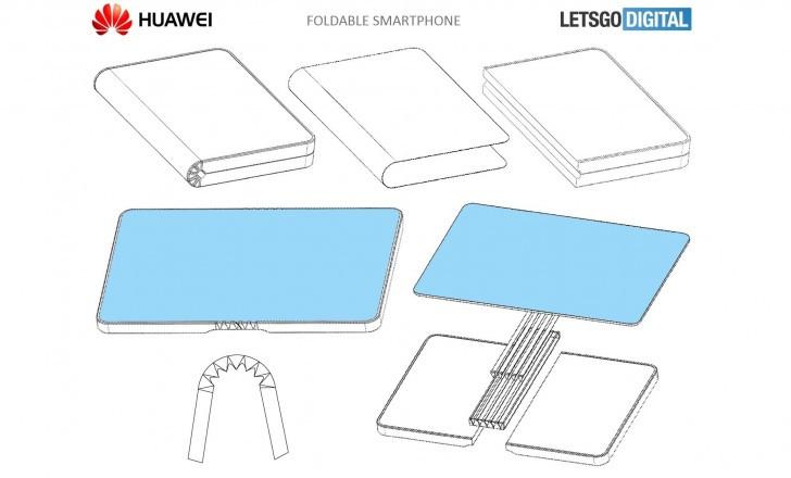 Esquema del smartphone plegable de Huawei