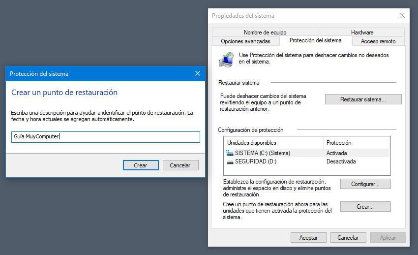 Cómo crear y gestionar puntos de restauración en Windows 34