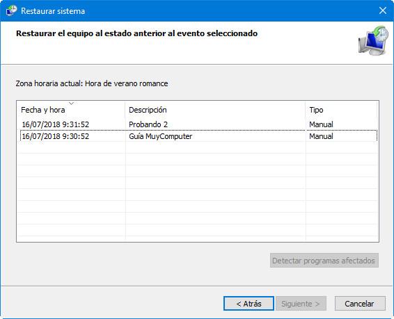 Cómo crear y gestionar puntos de restauración en Windows 40