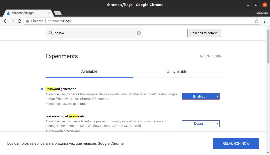 Activar generador de contraseñas en Google Chrome