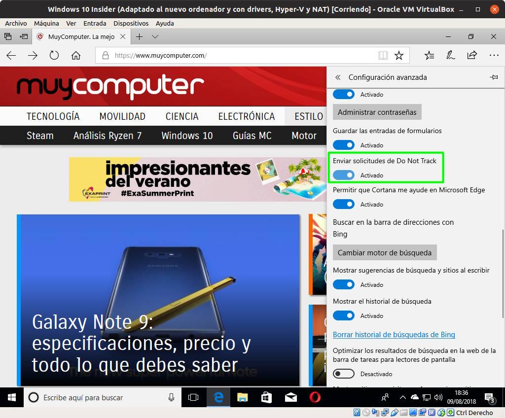 Cómo activar Do Not Track en los principales navegadores para escritorio y Android 62