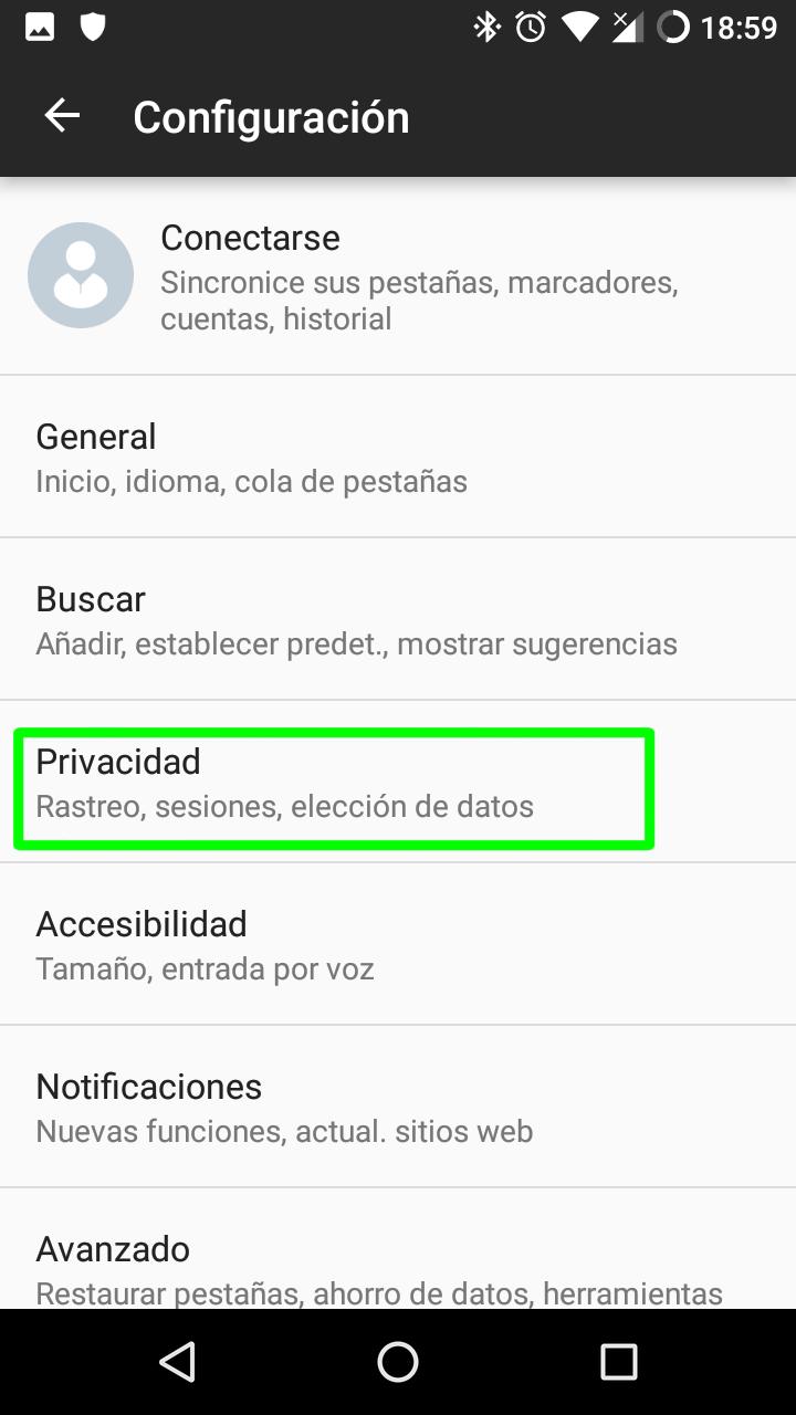 Cómo activar Do Not Track en los principales navegadores para escritorio y Android 70