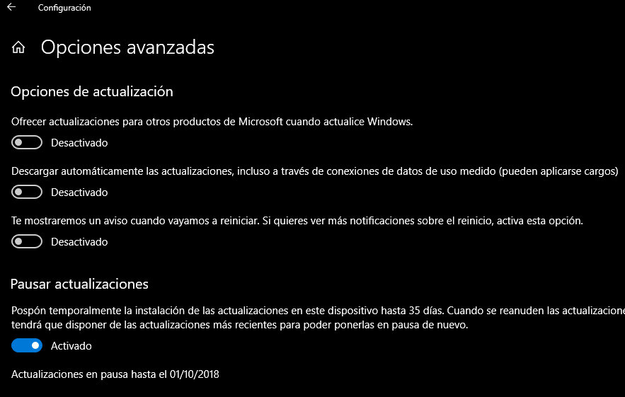 problemas con las actualizaciones en Windows 10