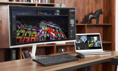 monitor curvado con Thunderbolt 3