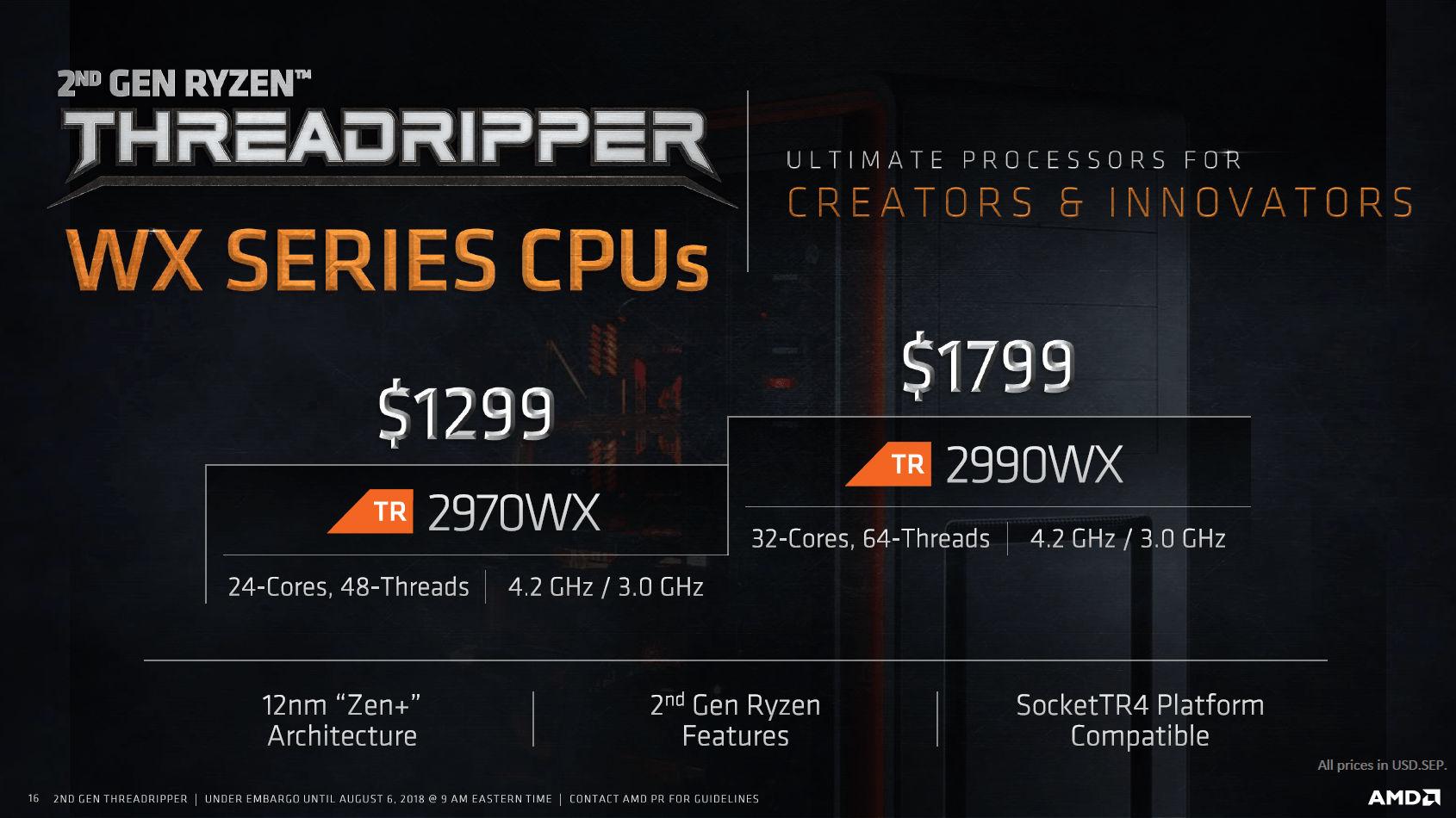 Primeros análisis del Threadripper 2990WX: gran rendimiento a precio razonable 32
