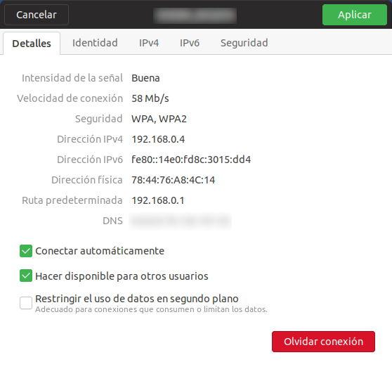 Configuración de la red inalámbrica en Ubuntu 18.04