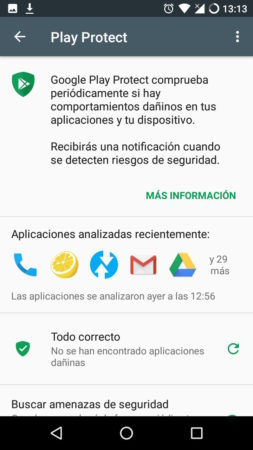 Acceder a Google Play Protect desde la Play Store en Android