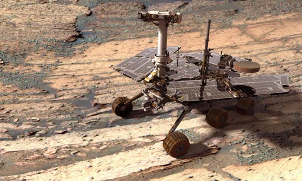 La Mars Reconnaissance Orbiter capta una imagen del rover Opportunity 33