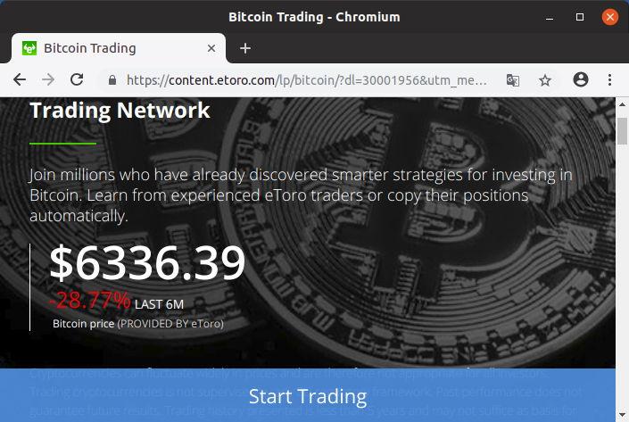 Valor Bitcoin 19 de septiembre de 2018