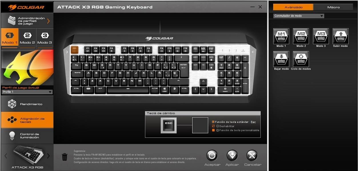 Cougar Attack X3 RGB, análisis: un teclado equilibrado 62