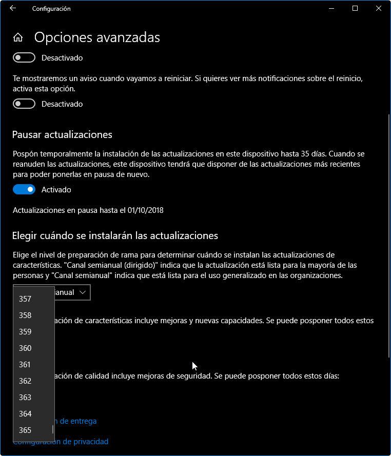 Cómo retrasar la actualización a Windows 10 October 2018 Update 41