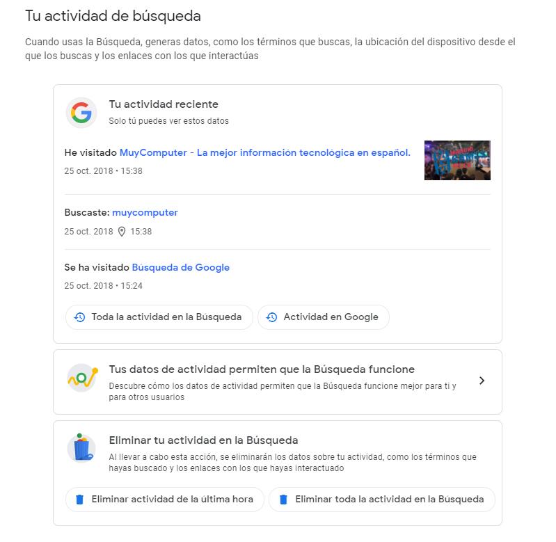 Como borrar tu historial de búsqueda en Google 35