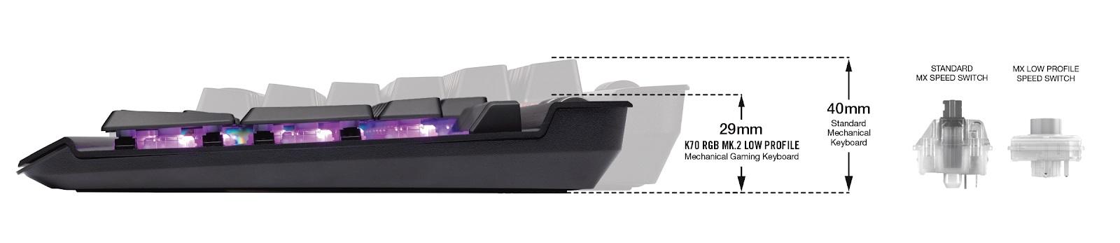 Corsair K70 RGB MK.2 Low Profile: teclado mecánico de gama alta y perfil bajo 34