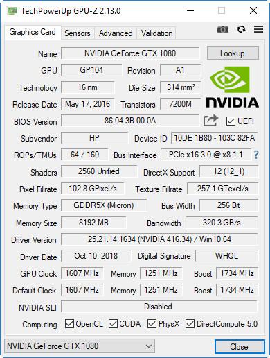 HP OMEN 880, análisis 58