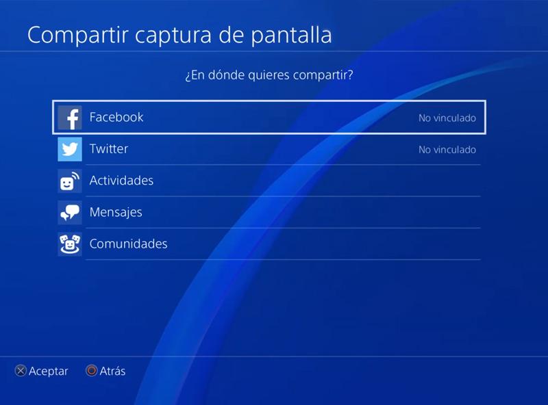 Capturas PS4 Redes Sociales