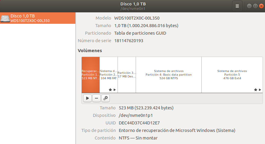 WD BLACK NVME SSD, análisis 54