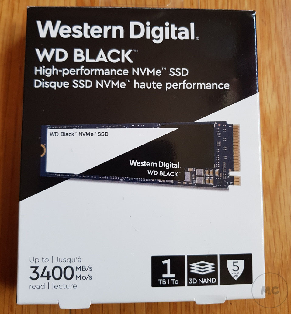 WD BLACK NVME SSD, análisis 58