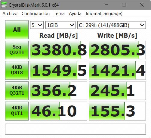 WD BLACK NVME SSD, análisis 44