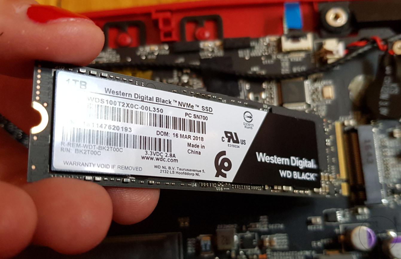 WD BLACK NVME SSD, análisis 36