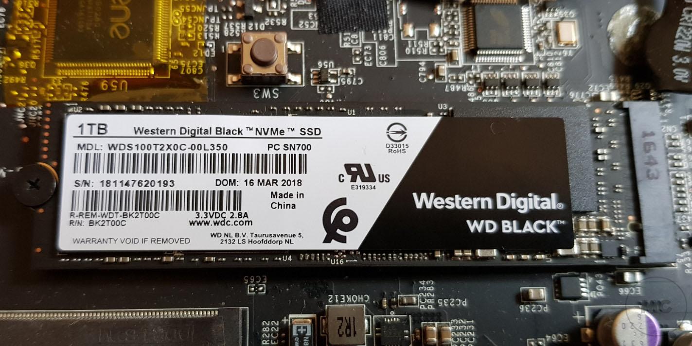 WD BLACK NVME SSD, análisis 38