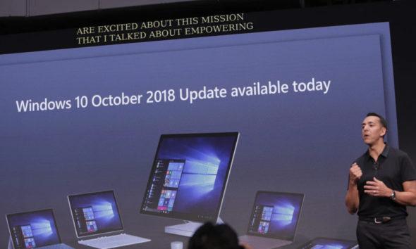 errores Windows 10 October 2018 Update