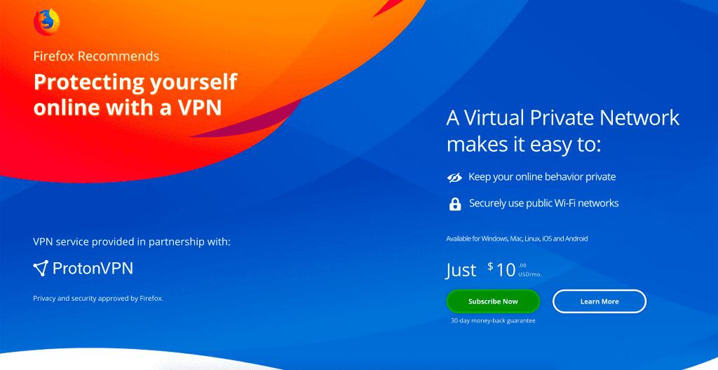 VPN para Firefox