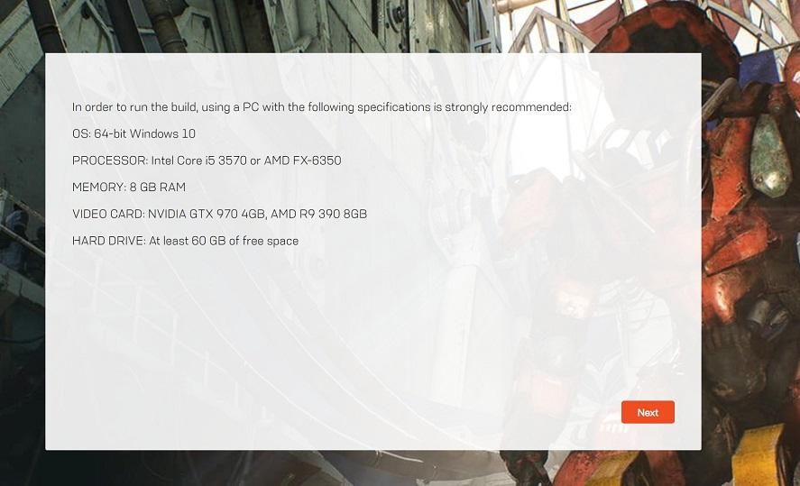 Requisitos de Anthem para PC: fecha de inicio de la alpha abierta 31
