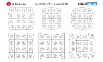 LG patente smartphone 16 cámaras