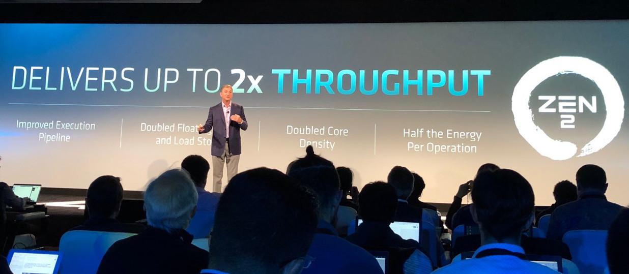 AMD presenta la arquitectura Zen 2, la primera x86 de 7 nm 32