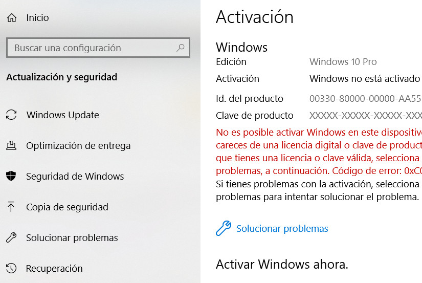 clave activacion windows 10 pro 2018