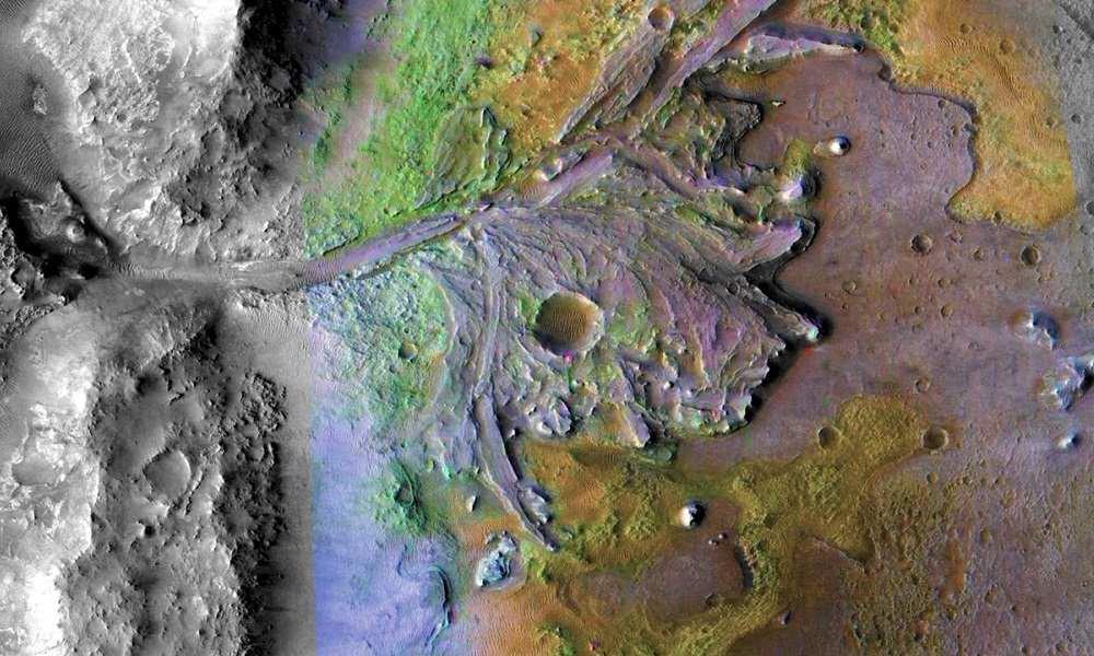La NASA elige el cráter Jezero como nuevo lugar de aterrizaje en Marte 26