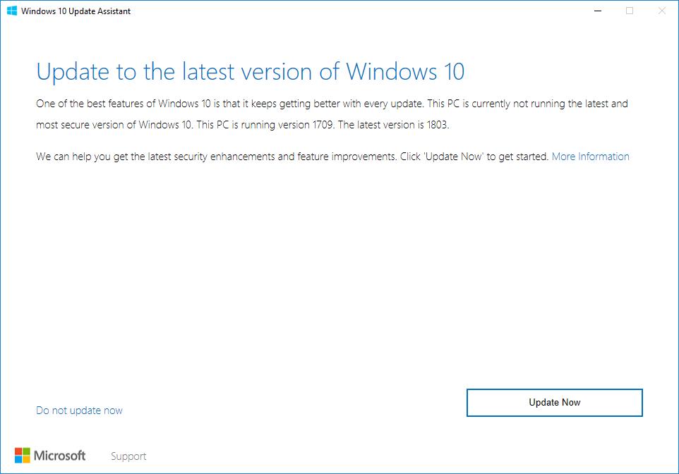 actualizaciones forzadas en Windows 10