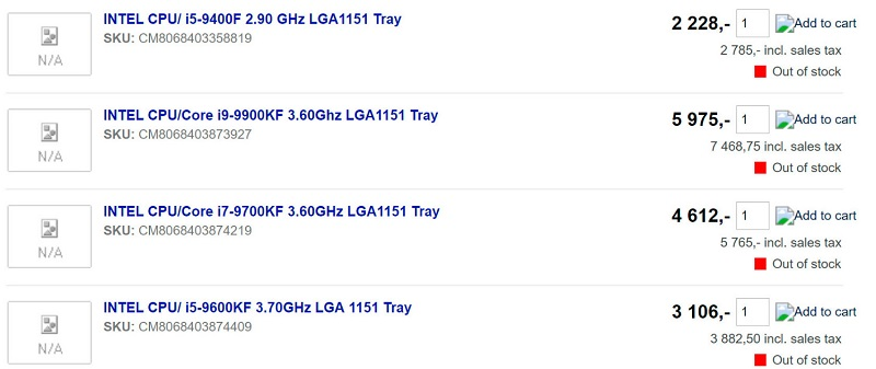 Listados los procesadores Core 9000 KF, te explicamos qué son 30