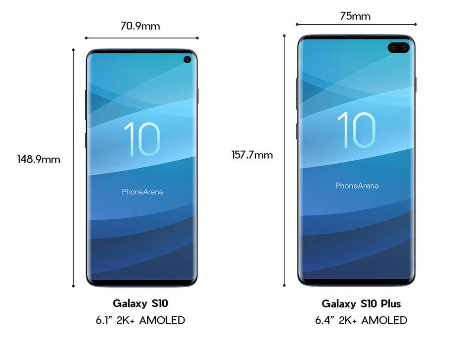 Galaxy S10 y Galaxy S10+ frente a frente: medidas y especificaciones 33