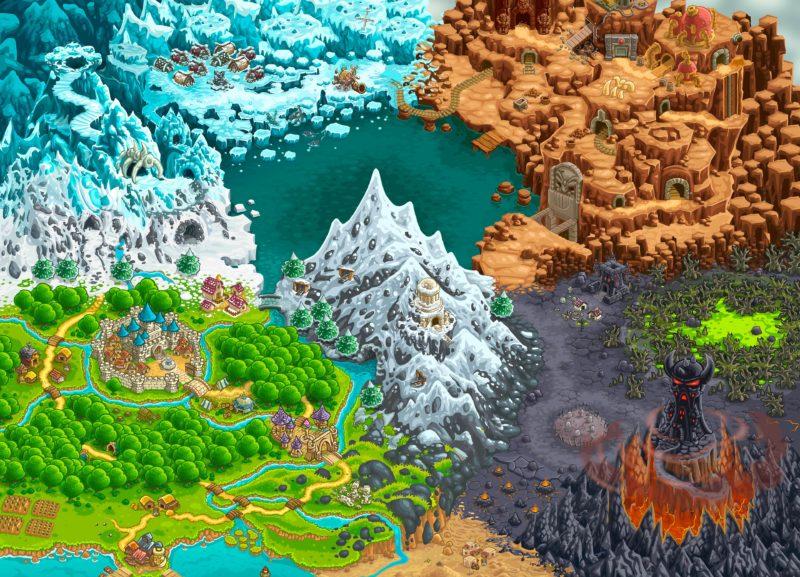 Kingdom Rush Vengeance Mapa