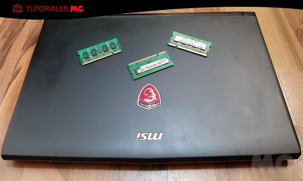 ampliar la memoria RAM de un portátil