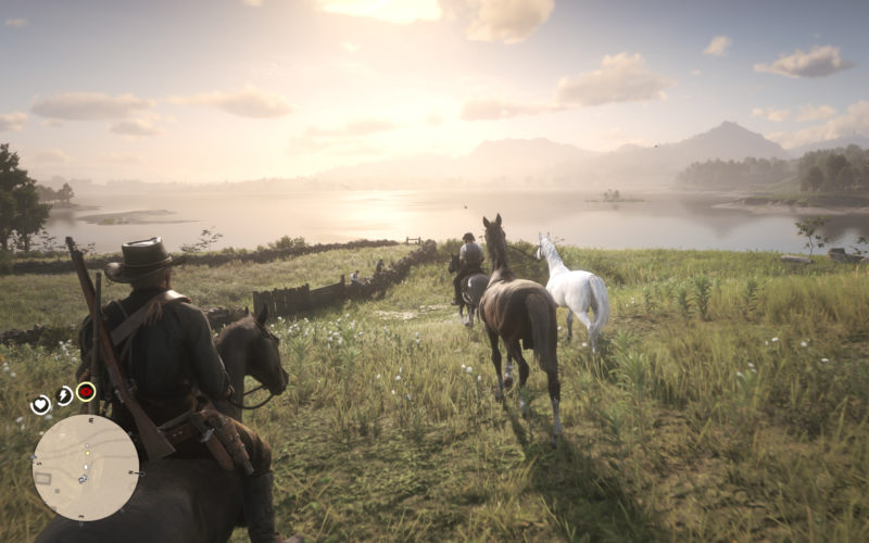 Red Dead Redemprion 2 Luces Sol Atardecer