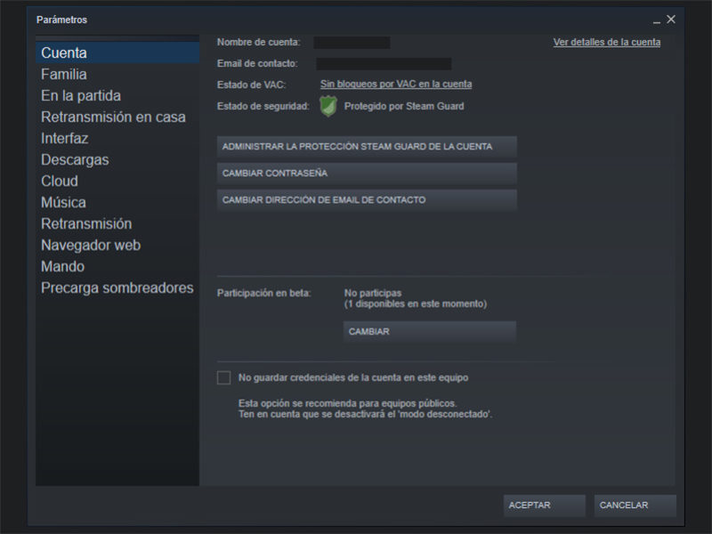 Steam Compartir Biblioteca Guard