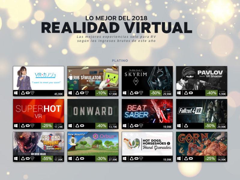 Steam Lo Mejor de 2018 Más Vendidos VR